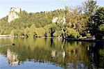 Slovénie, Bled, lac et Château sur une île