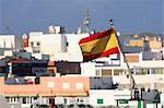 Espagne, Canaries, Corralejo, drapeau espagnol