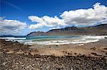 Spanien, Kanarische Inseln, Lanzarote, Strand von Famara