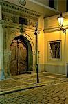 Vieille ville de Prague, République tchèque, porte cochère