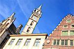 Belgium, Ghent, clock tower