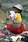 Peru, Colca canyon, wool factory
