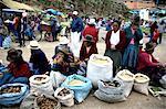 Peru, province of Urubamba, Chinchero, market