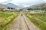 Pérou, Cordillère de Vilcanota, la femme sur les pistes