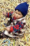 Peru, lake Titicaca, Uros island, child