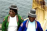 Peru, lake Titicaca, Uros island, traditional costumes