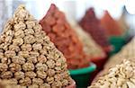 Uzbekistan. Dried fruit & nuts at market