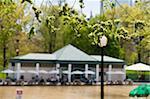 Pavilion of the Frog Pond in Boston Common, Boston, Massachusetts, USA