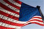 American Flag in wind.