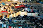 Laundry hanging in Mahalaxmi Dhobi Ghat