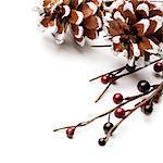 Pine Cones and Berries Christmas Corner Decoration