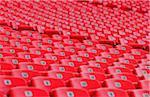 Sports stadium empty seating