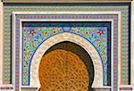 Decorative gate in the old medina