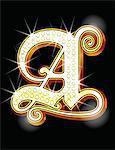 Bling alphabet A
