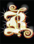 Bling alphabet B