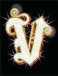 Bling alphabet V