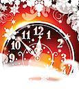Horloge affichage dix minutes avant minuit