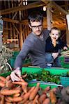 Père et fils à la Farmers Market