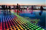 People Experiencing Sun Salutation Art Installation, Zadar, Zadar County, Dalmatia, Croatia