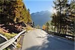 Road, lac de Sils, Engadin, Canton des Grisons, Suisse