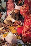 Cérémonie de mariage hindou pour Couple népalais, Bangkok, Thaïlande