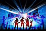 Diskothek themenbezogene digital composite
