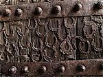 Détail d'une porte à Fatehpur Sikri en Inde. 2008