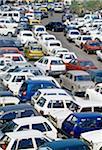 Parked cars, Delhi, India