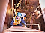 Escalier escalade de mécanicien de navire