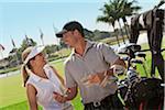Nahaufnahme der paar Golfsport