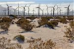 Wind Farm in Desert near Banning, Riverside County, California, USA