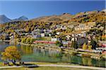 St. Moritz in Autumn, Engadine Valley, Canton of Graubunden, Switzerland