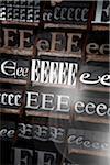 Letterpresses for Letter E