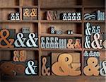 Ampersands in Letterpress Drawer