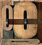 Letterpress Letter O's and Number 0's