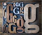 Typographie de g