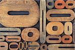 Typographie de zéro et de o