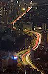 Freeway, Tokyo, Honshu, Japan, aerial view
