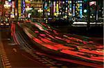 Traffic, Shinjuku, Tokyo, Honshu, Japan, elevated view
