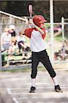 Baseballspieler (10-12) bis zu Fledermaus zu Hause Teller