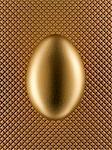 Close up of golden egg