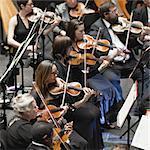 Zeichenfolge-Abschnitt im Orchester