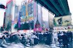 Japan, Tokyo, Akihabara District, pedestrians crossing street