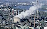 Cheminées d'usines, Cologne, Allemagne
