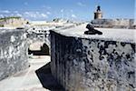 Fort by sea, El Morro, Old San Juan, Puerto Rico, aerial view