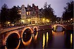 Bridge over Keizersgracht Canal, Amsterdam, Holland, Europe