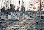 Pierres tombales au cimetière