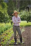 Portrait of Farmer on Organic Farm