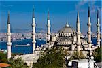 La mosquée bleue et la ville, Istanbul, Turquie