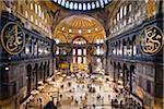 Intérieur de la basilique Sainte-Sophie, Istanbul, Turquie